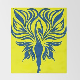 Aura Wings (Maize & Blue) Throw Blanket