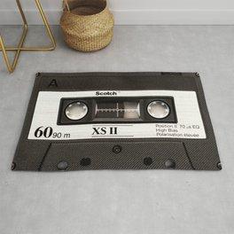 Cassette Tape Black And White #decor #society6 #buyart Rug