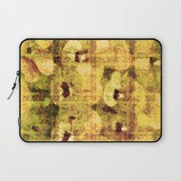 golden flower kaleidoskope Laptop Sleeve