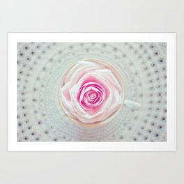 A Cup Of Rose Art Print