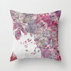 Oslo Map Throw Pillow