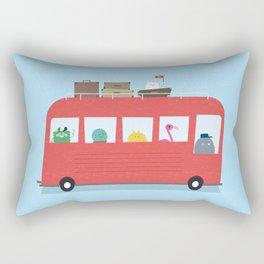 Funny Bus Rectangular Pillow