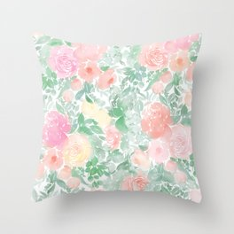 Springy Florals Throw Pillow