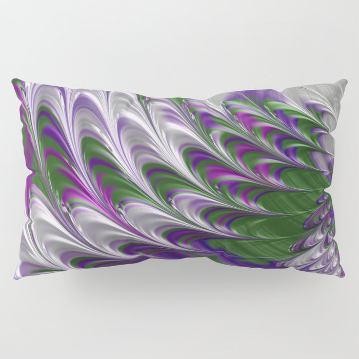 Purple and Green Abstract Pillow Sham