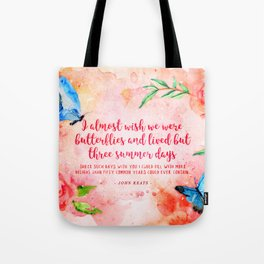 Three summer days Tote Bag