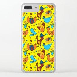Crazy Birds Clear iPhone Case