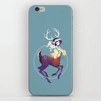 fawn iPhone & iPod Skins featuring Fawn by Stephanie Kao