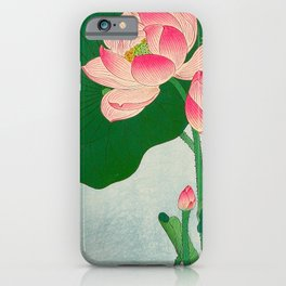 Ohara Koson Flowering Lotus 1930s Japanese Woodblock Print Vintage Historical Japanese Art iPhone Case