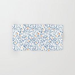 Winter Blossom blue Hand & Bath Towel