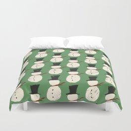 Jolly Green Snowguys Duvet Cover