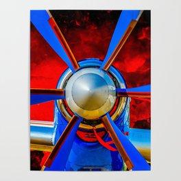 Blue propeller Poster