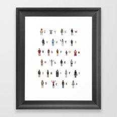 Z-A Framed Art Print