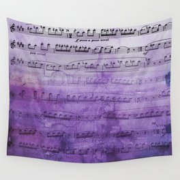 Soft Purple Music Wall Tapestry
