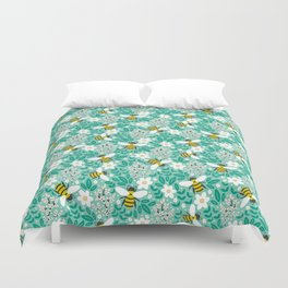 Blooms & Bees Duvet Cover