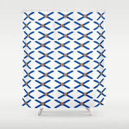 flag of nova scotia- nova scotian,bluenoser,halifax,cape breton,nueva escocia,nouvelle écosse. Shower Curtain