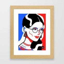 Red, White & Blue Framed Art Print