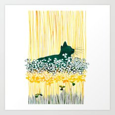 Clover Cat Art Print