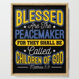Blessed Are The Peacemakers Police Officer Cop Serving Tray