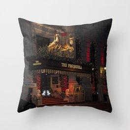 The Peninsula New York At Christmas Throw Pillow
