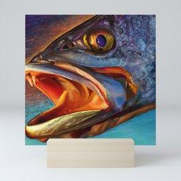 Speckled Sea Trout Head Painting Mini Art Print