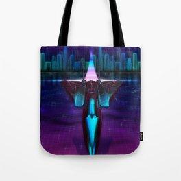 Neon Flight on Titan Tote Bag