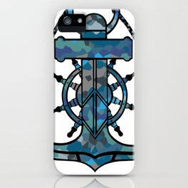 Anchor and Steering Helm [Multicolored 2] iPhone Case