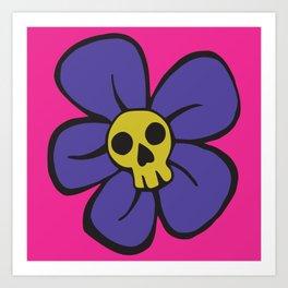 She kills me, she kills me not... Art Print