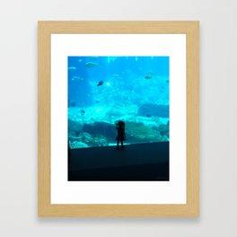 Child in the Aquarium Framed Art Print