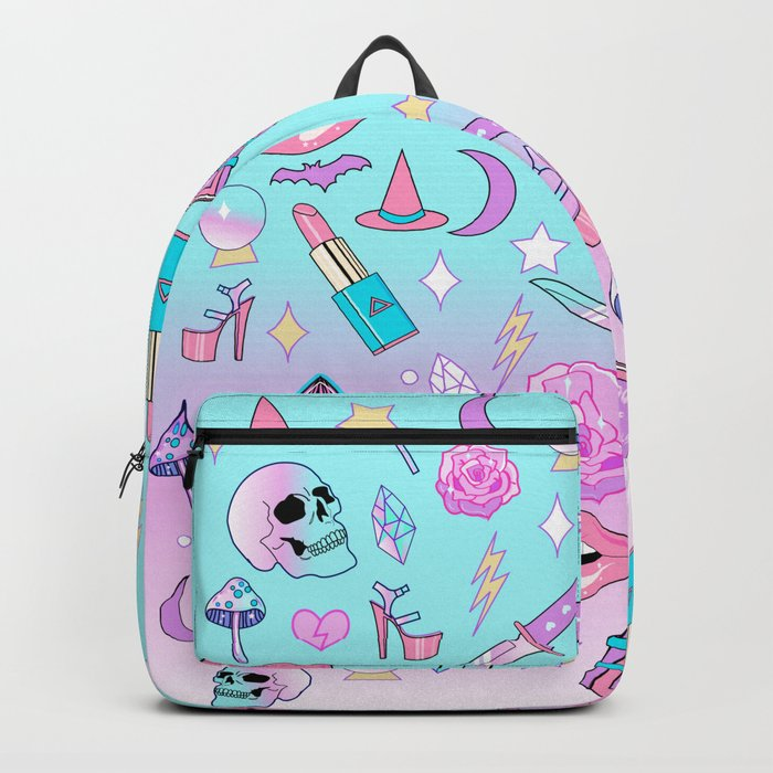 Girly Pastel Goth Witch Pattern Backpack