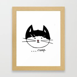 Noop Kitty Benji Cat Framed Art Print