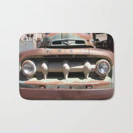 Ford Truck, Old Ford Grill, Truck, Man Cave Art Bath Mat