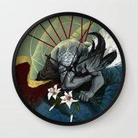 """dragon age Wall Clocks featuring Dragon Age - Qunari - Betrayal by Barbara """"Yuhime"""" Wyrowińska"""