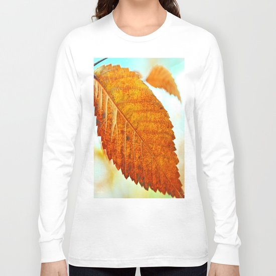 Orange Leaf Long Sleeve T-shirt