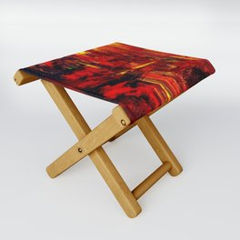 """Summer on the Delta"" Abstract Acrylic by Noora Elkoussy Folding Stool"