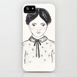 A little girl and the stars iPhone Case