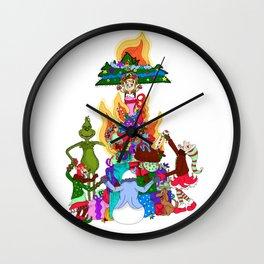 Infernal Grinch Farandole Wall Clock