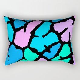 Pastel Giraffe Print Rectangular Pillow