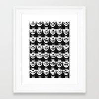 risa rodil Framed Art Prints featuring Muerta de Risa by SARA PUIG