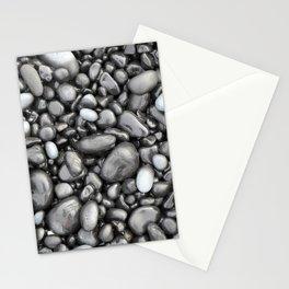 Black lava pebbles Stationery Cards