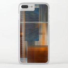 Uninhabited Mosaic (Zig Zag) Clear iPhone Case