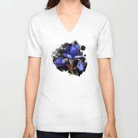 iris V-neck T-shirts featuring Iris by Artemio Studio