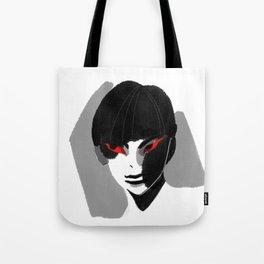 Red Eyed Boy Tote Bag