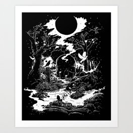 XIII - Death Card (Shadow Light Tarot) Art Print