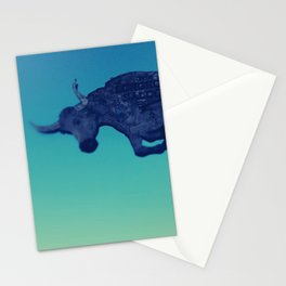 The flying bull Stationery Cards