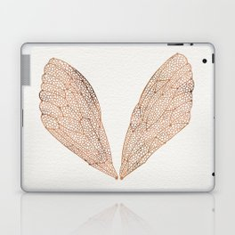 Cicada Wings in Rose Gold Laptop & iPad Skin