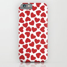 Love Heart Pattern 2 - Red iPhone 6 Slim Case