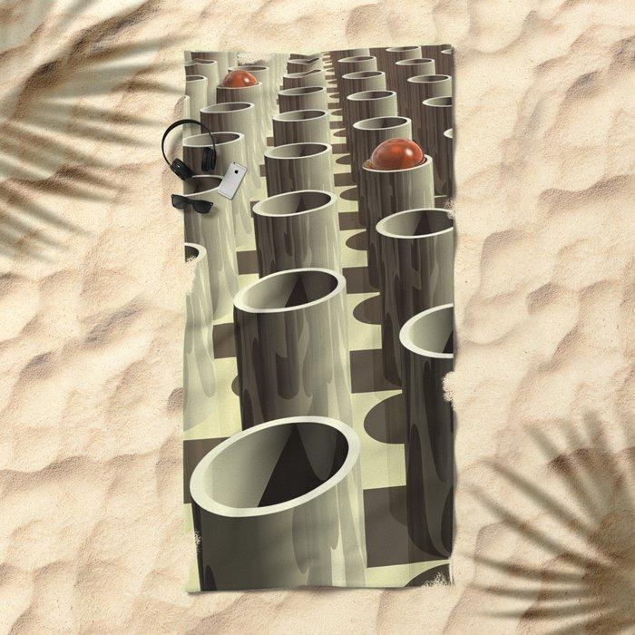 Stockyard of Cylinders Beach Towel