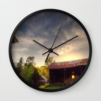 tennessee Wall Clocks featuring Tennessee Sunset by Terbo