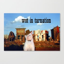 Wot in Tarnation Canvas Print