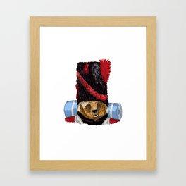 Monsieur L'Ours Framed Art Print